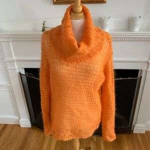 THE LIMITED soft light mohair cowl neck sweater
